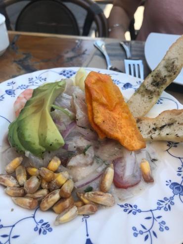 Ceviche en Puerto Bellavista.