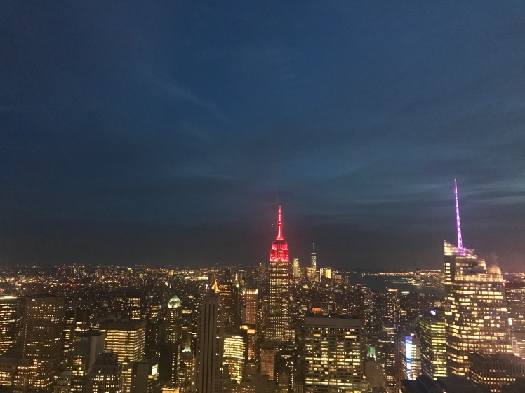 Vista nocturna desde el Top of the Rock