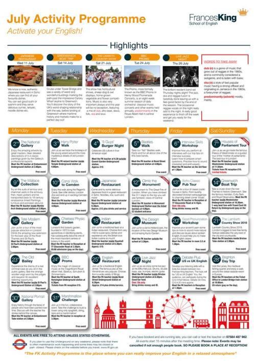 Ejemplo de Activity Programme